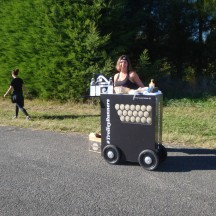 The 'pimped up' Air New Zealand snack trolley.