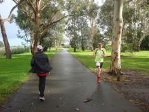 John speeding through the last five kilometres.
