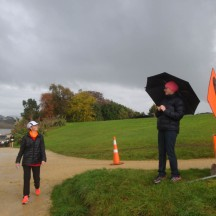 Despite being very sick, Cheryl still braved the foul weather to come out and offer support.