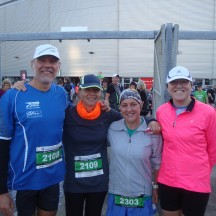 Gerry, me, Rachael and Kathleen (who ended up doing 7 of the 8 Half Marathons to support Rachael).