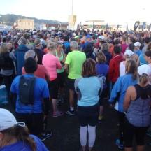 The field of half marathoners.