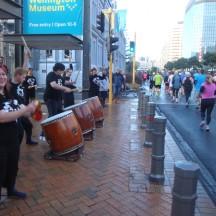 Some drumming entertainment en route.