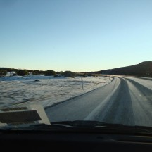 Icy roads causing accidents and a holdup on the way.