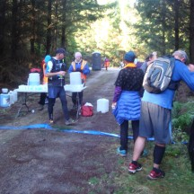 The first water point with freezingly cold water.
