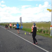 The third water point, signalling the arrival of the last quarter of the race. Water points doubled as change-overs for the 4-person relay teams, so were spaced roughly 5km apart. Plus a bonus water point roughly two kilometres from the finish.