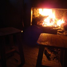 Nothing like a fire to warm body and soul on a cold night.