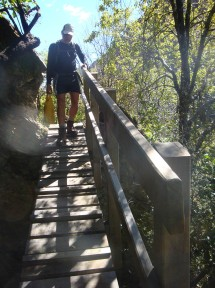 Some very steep sections had steps to help you along.