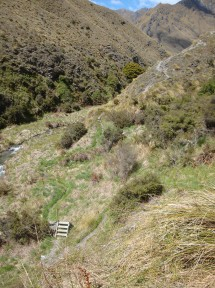 The track winds its way along the ridges, offering splendid views if you have the guts to raise your eyes from the footpath.