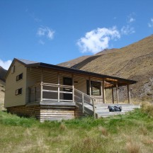 Fern Burn Hut, built in 2008.