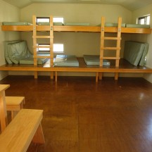 Two bunk beds - sleeps six people at the top and six at the bottom.