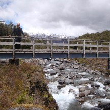 A bridge built in memory of another life lost in the deceivingly dangerous mountain streams.