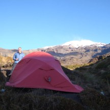 With camp all set up, we were having coffee and cooking dinner with the sun starting to set.