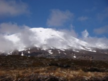 The low clouds created beautiful effects around Mt Ruapehu.