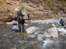 Crossing the Mangaturuturu river required more careful rock-hopping.