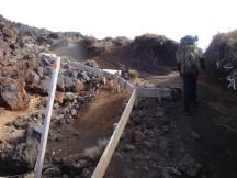 Interesting path construction heading up the scoria slope.