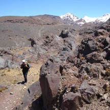 Impressive volcanic rock structures in the valley.