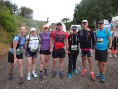 Some members of the Manawatu Trail Runners FB group: Suzanne, Nikki, Amanda, Brett, Wouna, Gerry and Michael.