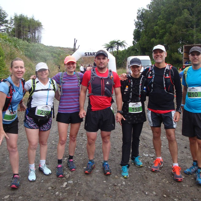 Some members of the Manawatu Trail Runners FB group: Suzanne, Nikki, Amanda, Brett, Wouna, Gerry and Michael.
