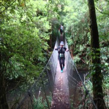 The second swing bridge on the half marathon course.