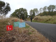 Distance markers for the half, 10km and 5km runs.