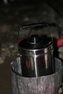 The trusty old Billy and MSR stove - some of the best pieces of camping equipment we've even invested in.