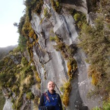 Gerry at Dieffenbach cliffs.