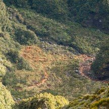 The red water of the Kokowai Stream.