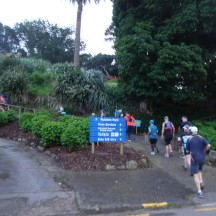 An early 'pinch' in the road, as the race organiser called the little footpath near the start.