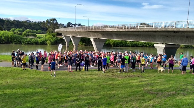 217 (in 2017 :-)) participants turned up for the inaugural Palmy Parkrun.