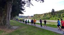 Starting at the Fitzherbert Bridge, participants run/walk upstream for 2.5km, before turning around and running/walking back.