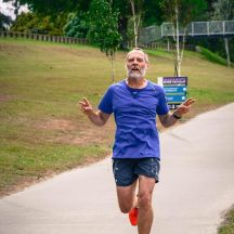 Gerry at full throttle. (Photo: Richard Berber/parkrun)