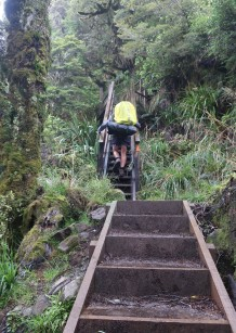 Stairs are provided where the uphill gets very steep.