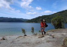 Nice change of scenery walking along the lake's edge.