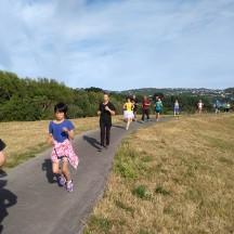 Running along the Hutt River walkway.