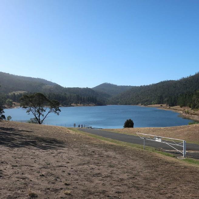 Risdon Brook reservoir.