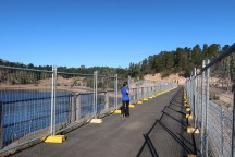 The dam wall.