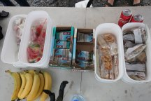 Awesome spread at one of the intermediate aid stations.