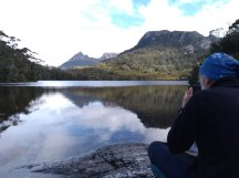Lake Lilla and Cradle Mountain in the back.