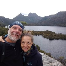 On top of Glacier Rock with Cradle Mountain in the back.