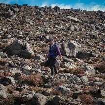 A rocky descent.