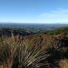 Panoramic views towards the Wairarapa