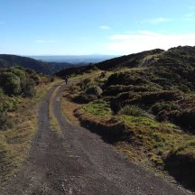 The 4wd track meandering over the hills.