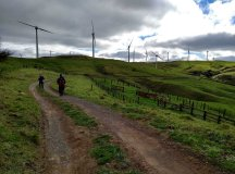 Hitting the 4wd section through the Te Rere Hau windfarm.