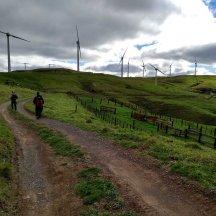 Hitting the 4wd section through the Te Rere Hau windfarm.