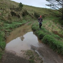 Following an alternative route to avoid some of the mud.