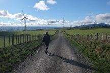 Heading to the Tararua Wind Farm owned by event sponsors Tilt Renewables.