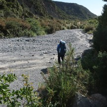 Back in the river bed.