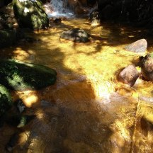 Another sulphurous volcanic stream.