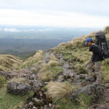 The view down the mountain, looking out over the Taranaki plains.