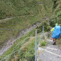 Steep fall-offs to the left - the protective fence felt quite welcome.